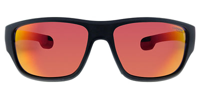 Carrera CA Carrera4008 003 Wrap Plastic Black Sunglasses with Red Mirror Lens