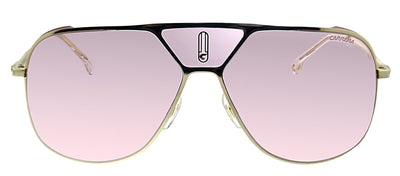 Carrera CA CarreraLenses EYR Aviator Metal Gold Sunglasses with Pink Lens
