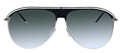 Dior CD 0217S 010 Pilot Metal Silver Sunglasses with Silver Mirror Lens