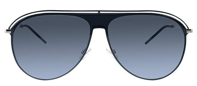 Dior CD 0217S CSA Pilot Metal Black Sunglasses with Grey Polarized Lens