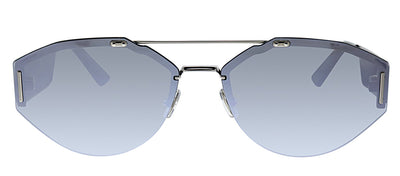 Dior CD 0233S 010 OT Pilot Metal Silver Sunglasses with Grey Lens