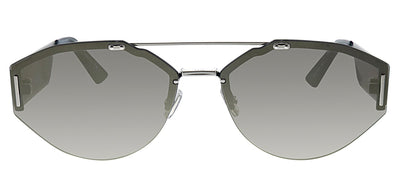Dior CD 0233S 010 QV Pilot Metal Silver Sunglasses with Silver Mirror Lens