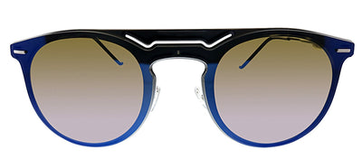 Dior CD 211FS KJ1 Aviator Metal Dark Ruthenium Sunglasses with Blue Mirror Lens
