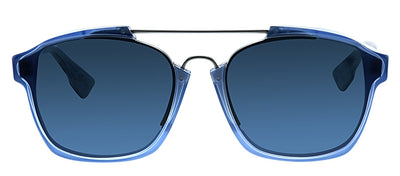 Dior CD Abstract UDP Round Plastic Blue Sunglasses with Blue Gradient Lens