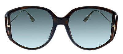 Dior CD Direction2 086 1I Geometric Plastic Tortoise Sunglasses with Grey Lens