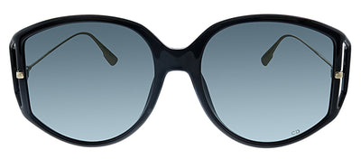 Dior CD Direction2 807 1I Geometric Plastic Black Sunglasses with Grey Lens