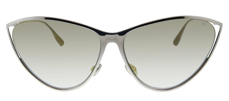 Dior CD NewMotard 010 FQ Cat-Eye Metal Silver Sunglasses with Gold Mirror Lens