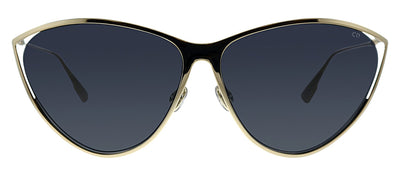 Dior CD NewMotard J5G IR Cat-Eye Metal Gold Sunglasses with Grey Gradient Lens