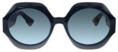 Dior CD Spirit1 807 Oval Plastic Black Sunglasses with Grey Lens