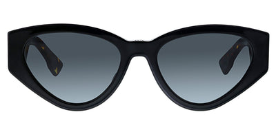 Dior CD Spirit2 807 Cat-Eye Plastic Black Sunglasses with Grey Gradient Lens