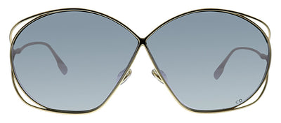 Dior CD Stellaire2 83I 0T Geometric Metal Gold Sunglasses with Silver Mirror Lens