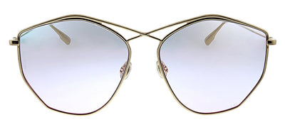Dior CD Stellaire4 000 TE Geometric Metal Gold Sunglasses with Purple Gradient Lens