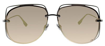 Dior CD Stellaire6 010 Pilot Metal Silver Sunglasses with Gold Gradient Lens