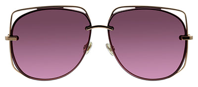 Dior CD Stellaire6 DDB Pilot Metal Gold Sunglasses with Pink Lens