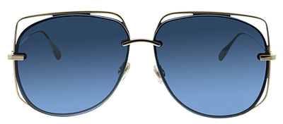 Dior CD Stellaire6 J5G Pilot Metal Gold Sunglasses with Blue Mirror Lens