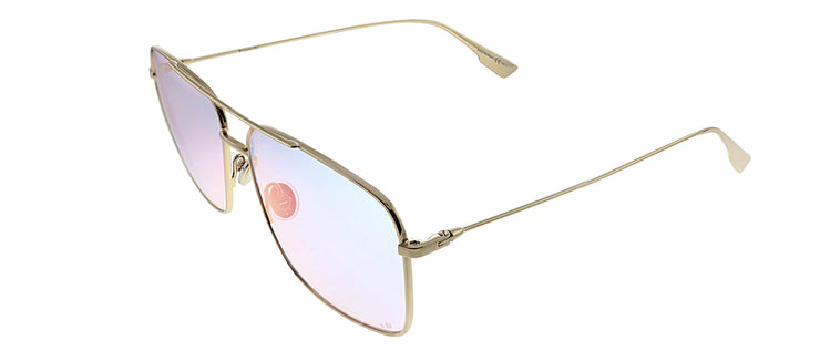 Dior CD Stellaireo3/S 000 TE Rectangle Metal Gold Sunglasses with Purple Gradient Lens