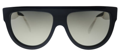 Celine Flat Top CL 4001IN 01C Fashion Plastic Black Sunglasses with Gold Mirror Lens