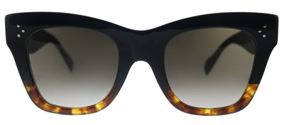 Celine CL 4004IN 05K Square Plastic Black Sunglasses with Brown Gradient Lens