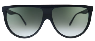 Celine Flat Top CL 4006IN 01P Rectangle Plastic Black Sunglasses with Green Gradient Lens