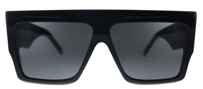 Celine CL 40092I 01A Square Plastic Black Sunglasses with Grey Lens