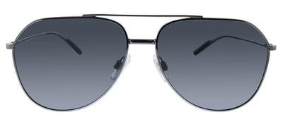 Dolce & Gabbana DG 2166 04/81 Pilot Metal Gunmetal Sunglasses with Grey Polarized Lens
