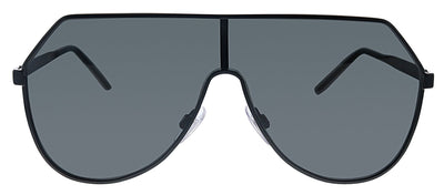 Dolce & Gabbana DG 2221 110687 Pilot Metal Black Sunglasses with Grey Lens