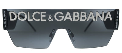 Dolce & Gabbana DG 2233 01/87 Square Metal Black Sunglasses with Grey Gradient Lens