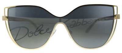 Dolce & Gabbana DG 2236 02/P Butterfly Metal Gold Sunglasses with Grey Lens
