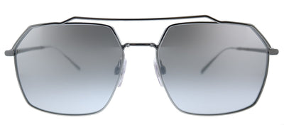 Dolce & Gabbana DG 2250 04/6V Square Metal GunMetal Sunglasses with Grey Gradient Mirrored Lens