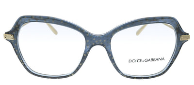 Dolce & Gabbana DG 3311 3210 Butterfly Plastic Transparent Black Eyeglasses with Demo Lens