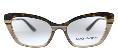 Dolce & Gabbana DG 3325 3256 Cat-Eye Plastic Havana Eyeglasses with Demo Lens