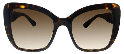 Dolce & Gabbana DG 4348F 502/13 Butterfly Plastic Havana Sunglasses with Brown Gradient Lens