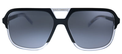 Dolce & Gabbana DG 4354 501/81 Square Plastic  Black Sunglasses with Grey Polarized Lens
