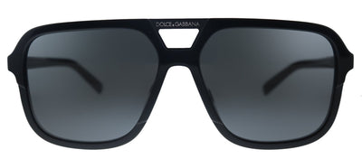 Dolce & Gabbana DG 4354 501/87 Square Plastic Black Sunglasses with Grey Lens