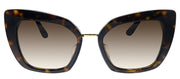 Dolce & Gabbana DG 4359F 502/13 Rectangle Plastic Havana Sunglasses with Brown Gradient Lens