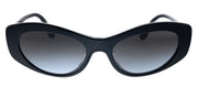 Dolce & Gabbana DG 4360F 501/8G Cat-Eye Plastic Black Sunglasses with Grey Gradient Lens