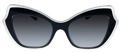 Dolce & Gabbana DG 4361 53838G Butterfly Plastic Black Sunglasses with Grey Gradient Lens