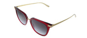 Dolce & Gabbana DG 4363 30918G Square Plastic Burgundy Sunglasses with Grey Gradient Lens