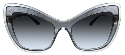 Dolce & Gabbana DG 4364 32138G Cat-Eye Plastic Grey Sunglasses with Grey Gradient Lens