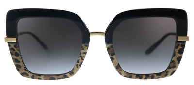 Dolce & Gabbana DG 4373 32448G Square Plastic Multicolor Sunglasses with Grey Gradient Lens