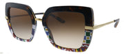Dolce & Gabbana DG 4373 327813 Square Plastic Multicolor Sunglasses with Brown Gradient Lens