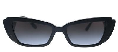 Dolce & Gabbana DG 4382 501/8G Rectangle Plastic Black Sunglasses with Grey Gradient Lens