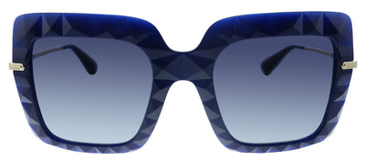 Dolce & Gabbana DG 6111 30944L Square Plastic Blue Sunglasses with Blue Gradient Lens