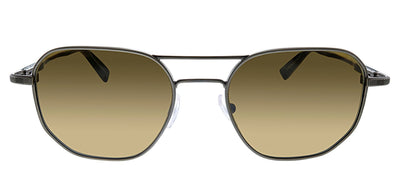 Ermenegildo Zegna EZ 0093/S 08J Geometric Metal Ruthenium Sunglasses with Brown Lens