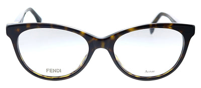 Fendi FF 0201 086 Cat-Eye Plastic Havana Eyeglasses with Demo Lens