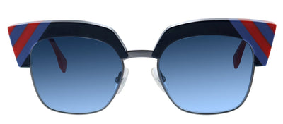 Fendi FF 0241 PJP 08 Cat-Eye Metal Blue Sunglasses with Blue Gradient Lens