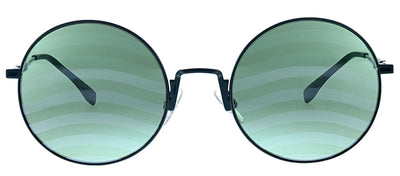 Fendi FF 0248 1ED XR Round Metal Green Sunglasses with Green Mirror Lens