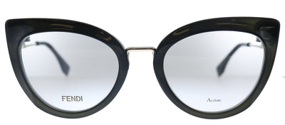 Fendi Tropical FF 0334 807 Cat-Eye Plastic Black Eyeglasses with Demo Lens