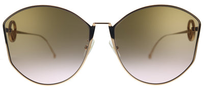 Fendi F is Fendi FF 0335/F/S DDB Butterfly Metal Gold Copper Sunglasses with Brown Gradient Lens