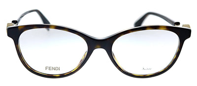 Fendi FF 0347 086 Oval Plastic Havana Eyeglasses with Demo Lens